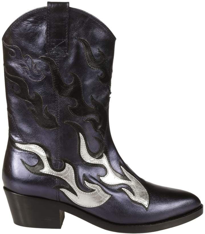 7ca1b7dd446 Chiara Ferragni Flame Western Boots   Selena Gomez at Coach Runway ...