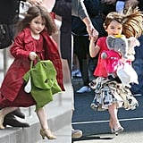 Suri Steps Out in Heels