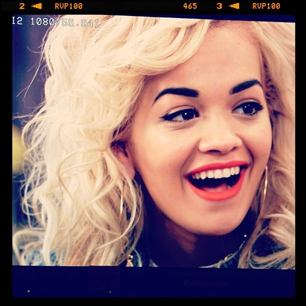 We caught a cute still of Rita Ora — and her flawless makeup — when she stopped by our LA studios in March.