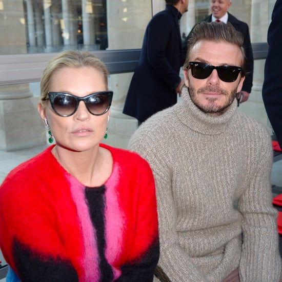 Kate Moss and David Beckham at Paris Men's Fashion Week