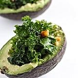 Garlic-Kale-Salad-Stuffed Avocado