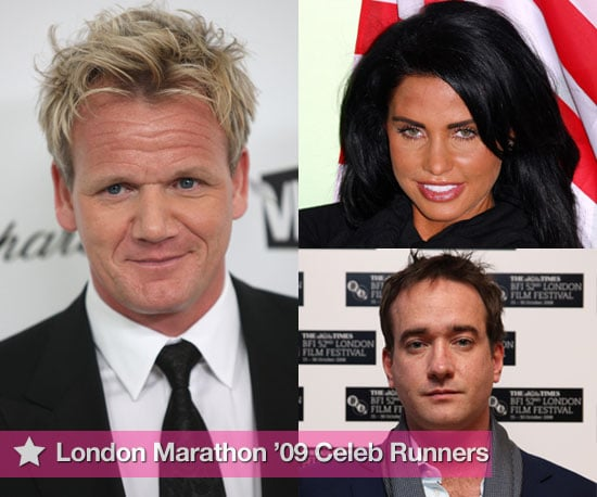 Photo Slideshow of Celebrities Due to Run the London Marathon 2009