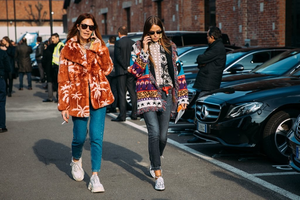 A fun printed coat is the easiest way to liven up denim.