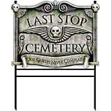 Halloween Cemetery Sign
