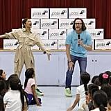 Zendaya Visits Global Family Elementary School in Oakland