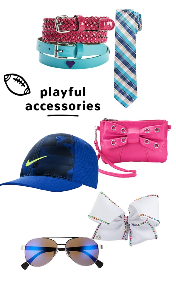 Accessories will help all of your kid's outfits feel fresh and stylized. Sometimes simply adding a necklace or hat makes all the difference. Extras are also the perfect way to inject your little one's personality into their look.