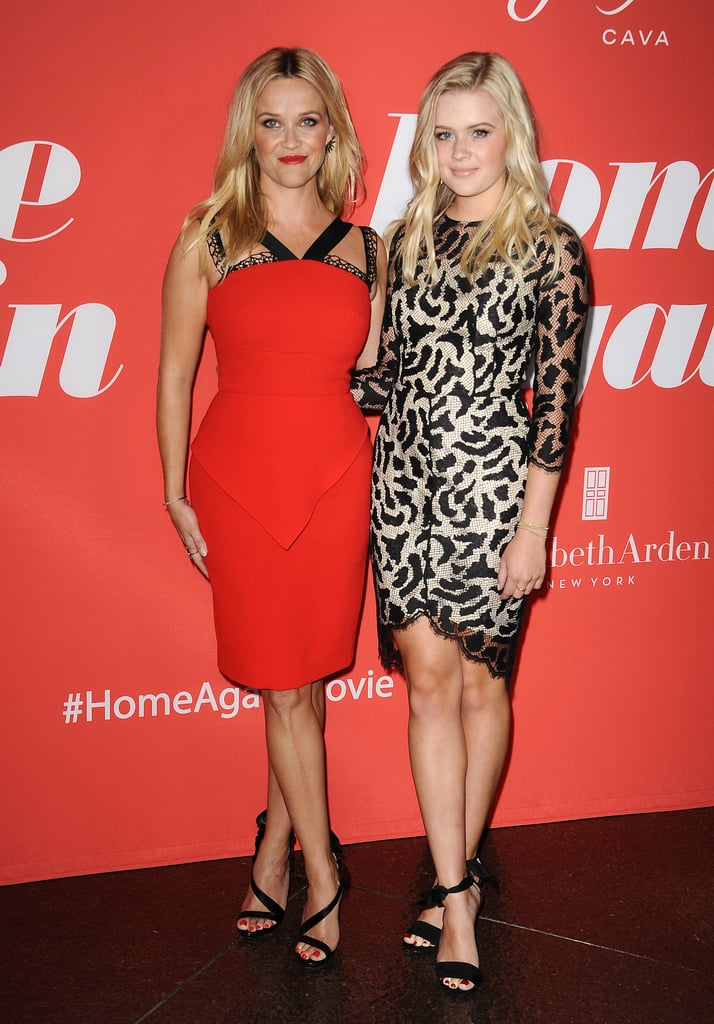 With every passing day, Reese Witherspoon and her daughter, Ava Phillippe, continue to look more and more like sisters. The mother-daughter pair got all dolled up on Tuesday night to attend the LA premiere of the actress's new movie, Home Again. While Reese looked stunning in a red dress, her daughter stole the spotlight in a sleek black lace number. Seriously, how is she only 17? She looks so grown up! But what we really love about this outing is the exact same red-carpet pose that Reese and Ava do. Get ready to see double with their sweet appearance ahead.       Related:                                                                                                           Reese Witherspoon's Family Photos Are Absolutely Adorable