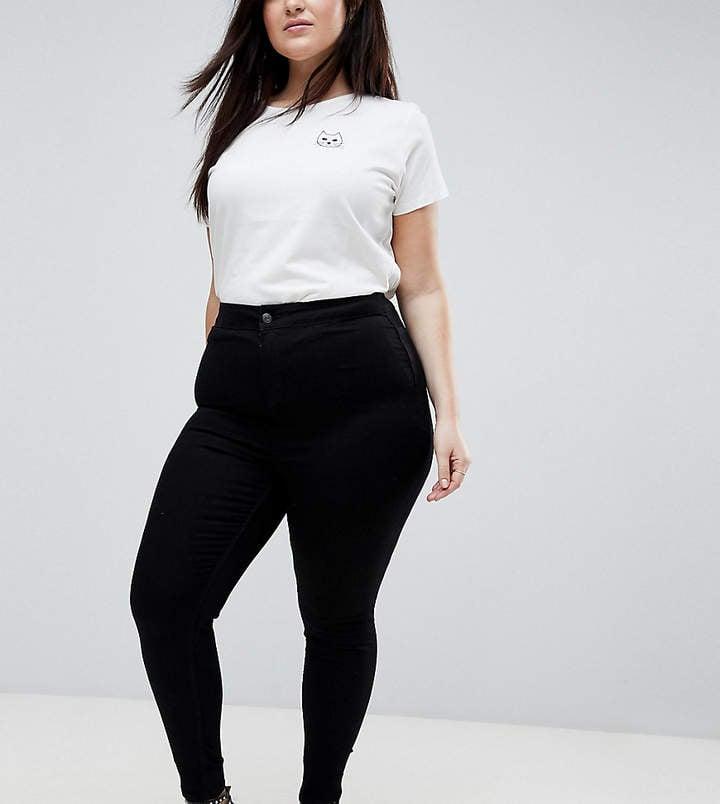 New Look Plus Raw Hem Skinny Jeans
