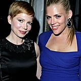 Michelle Williams and Busy Philipps were together for a night of partying in LA.