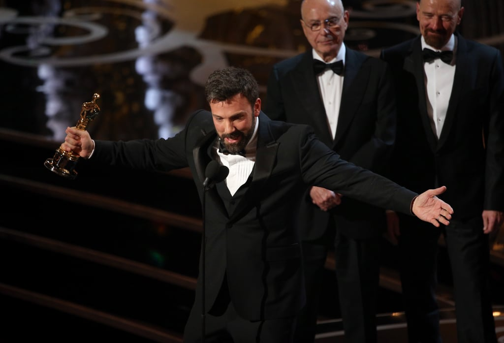 Ben Affleck gave his Oscars acceptance speech.