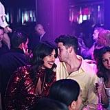 Nick and Priyanka Celebrating at LIV
