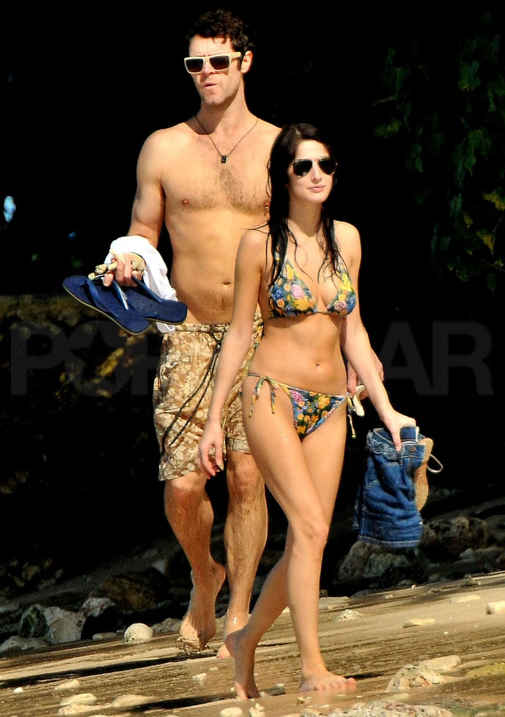 Pictures of Take That Howard Donald Shirtless In Barbados With Girlfriend Katie Halil, Mark Owen and Emma Owen,