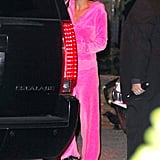 Nicole Richie in costume at Kate Hudson's Halloween party.