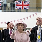 Queen Elizabeth waved during the official opening of the Central Manchester City Hospitals.