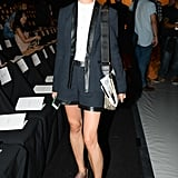 Tomoko Ogura suited up for the J. Mendel front row.