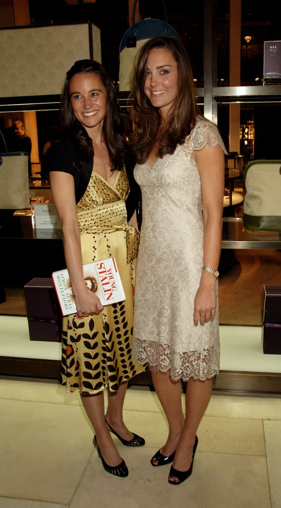 Little sister Pippa Middleton was by Kate's side in May 2007 to celebrate the publication of Simon Sebag Montefiore's book The Young Stalin at London's Asprey shop.