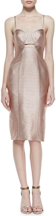 Jonathan Simkhai Metallic Fitted Dress
