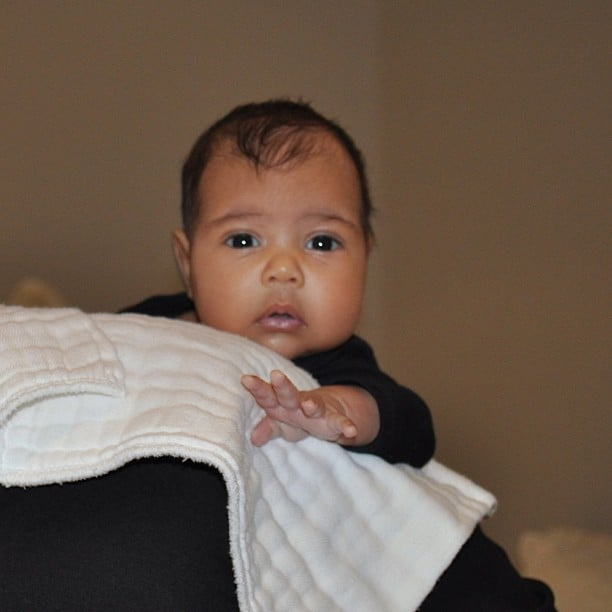 Kim Kardashian's first picture of North West on her Instagram feed. Source: Instagram user kimkardashian