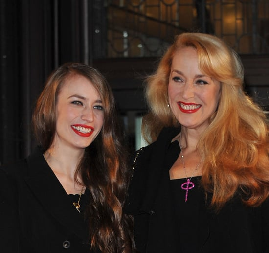 Jerry Hall and Lizzy Jagger Open the Harrods Sale 2010