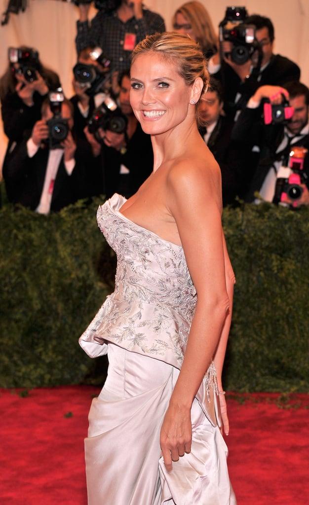 Heidi Klum at the Met Gala 2013.