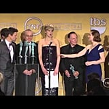All the F-Bombs She Dropped in the SAG Awards Press Room