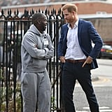 Prince Harry in Nottingham on World Mental Health Day Photos