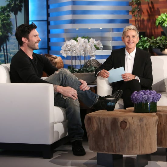 Adam Levine Talking About Daughter's Name on Ellen 2016