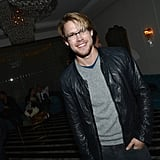 Chord Overstreet smiled at the Audi Golden Globes party in LA.