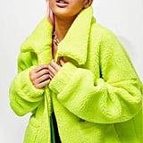 Jaded London Neon Yellow Fleece Jacket