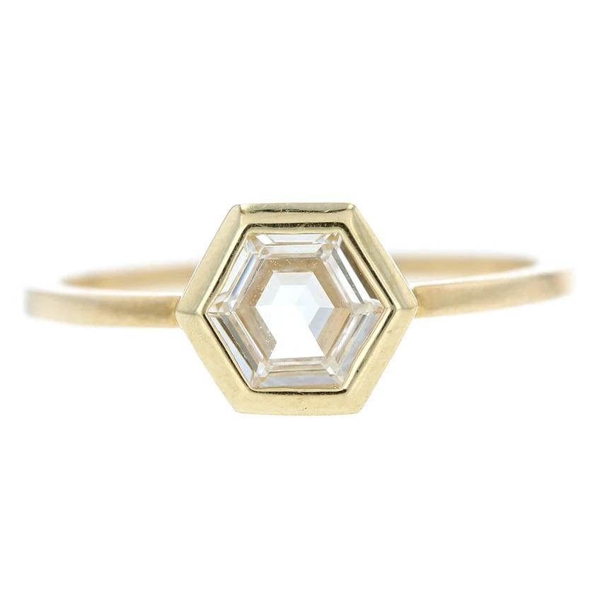 Grace Lee Hex Step Cut Diamond Ring