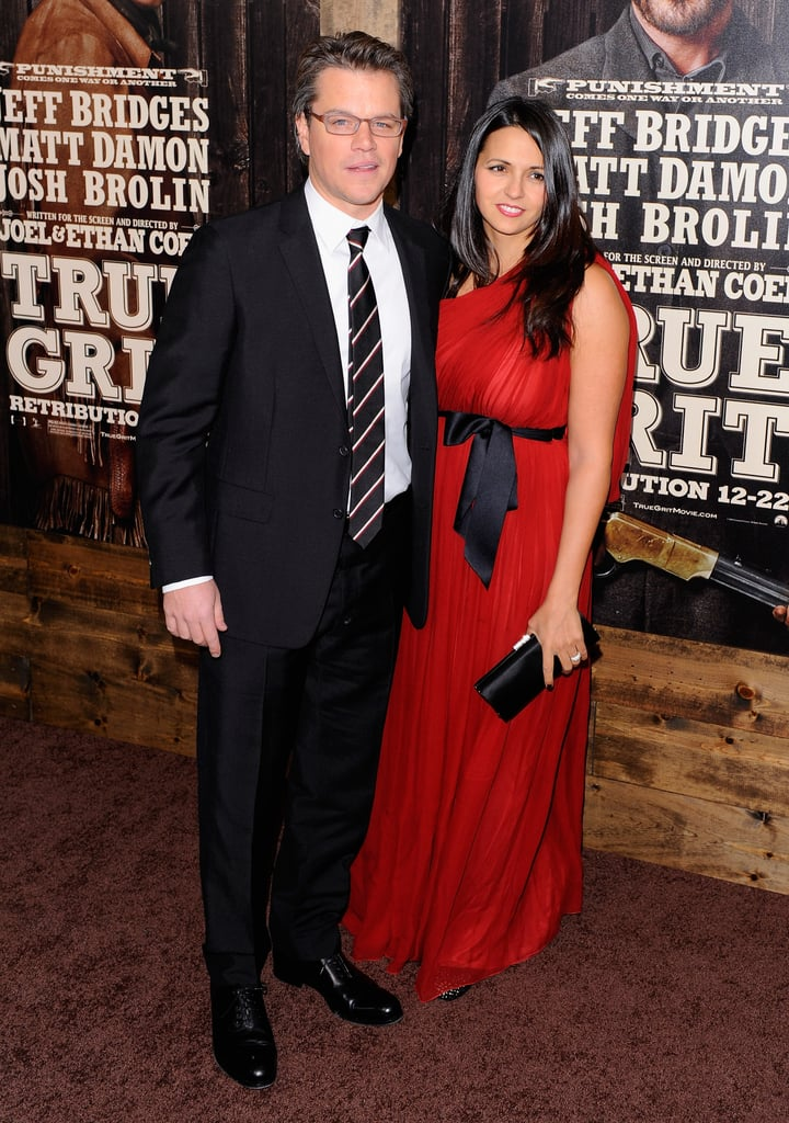 Pictures of Matt Damon, Luciana Damon, Jeff Bridges at NYC True Grit Premiere
