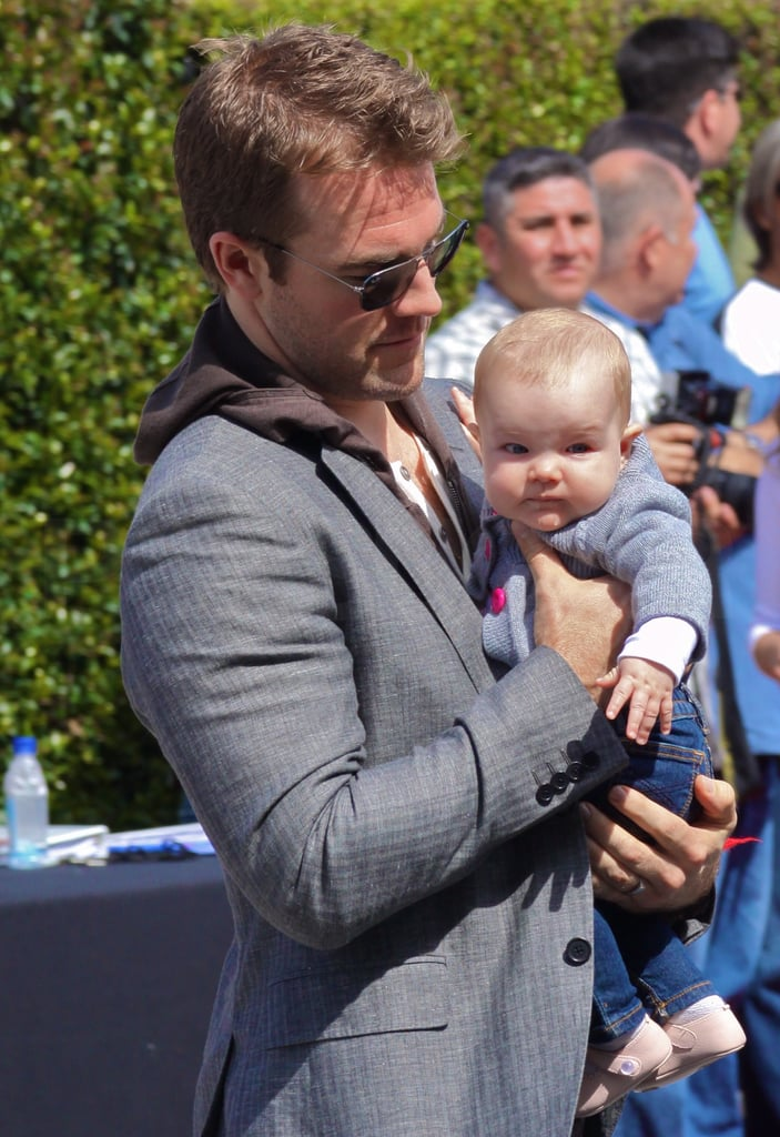James Van Der Beek and his wife Kimberly stepped out in LA yesterday to attend the John Varvatos Stuart House Benefit with their baby daughter Olivia. The couple, who married last August in Israel, welcomed Olivia shortly afterward in September. The family has been busy jetting around the world to support James's career, but they're also settling into their West Coast routine as a trio. He's been busy with a variety of projects like a cameo in a Ke$ha video, and will make a return to the small screen with Don't Trust the B**** in Apt. 23. The new role came as a birthday present for James, who rang in his 34th last Tuesday with a vacation in Palm Springs.