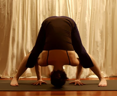 Yoga Pose Wide-Legged Forward Bend A