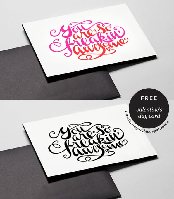 You Are So Awesome Valetine's Printable