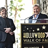 Pictured: Mark Hamill and Harrison Ford.