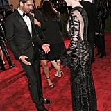 Anne Hathaway and Gerard Butler at the Met Gala 2013.