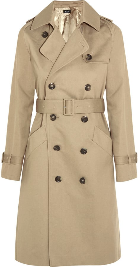 A.P.C. Atelier de Production et de Création Vendee Cotton-Twill Trench Coat ($635)