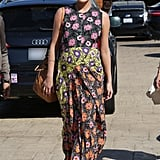 Wearing Marni's Floral-Print Voile Maxi Dress ($3,150) while out in Los Angeles with John Legend.