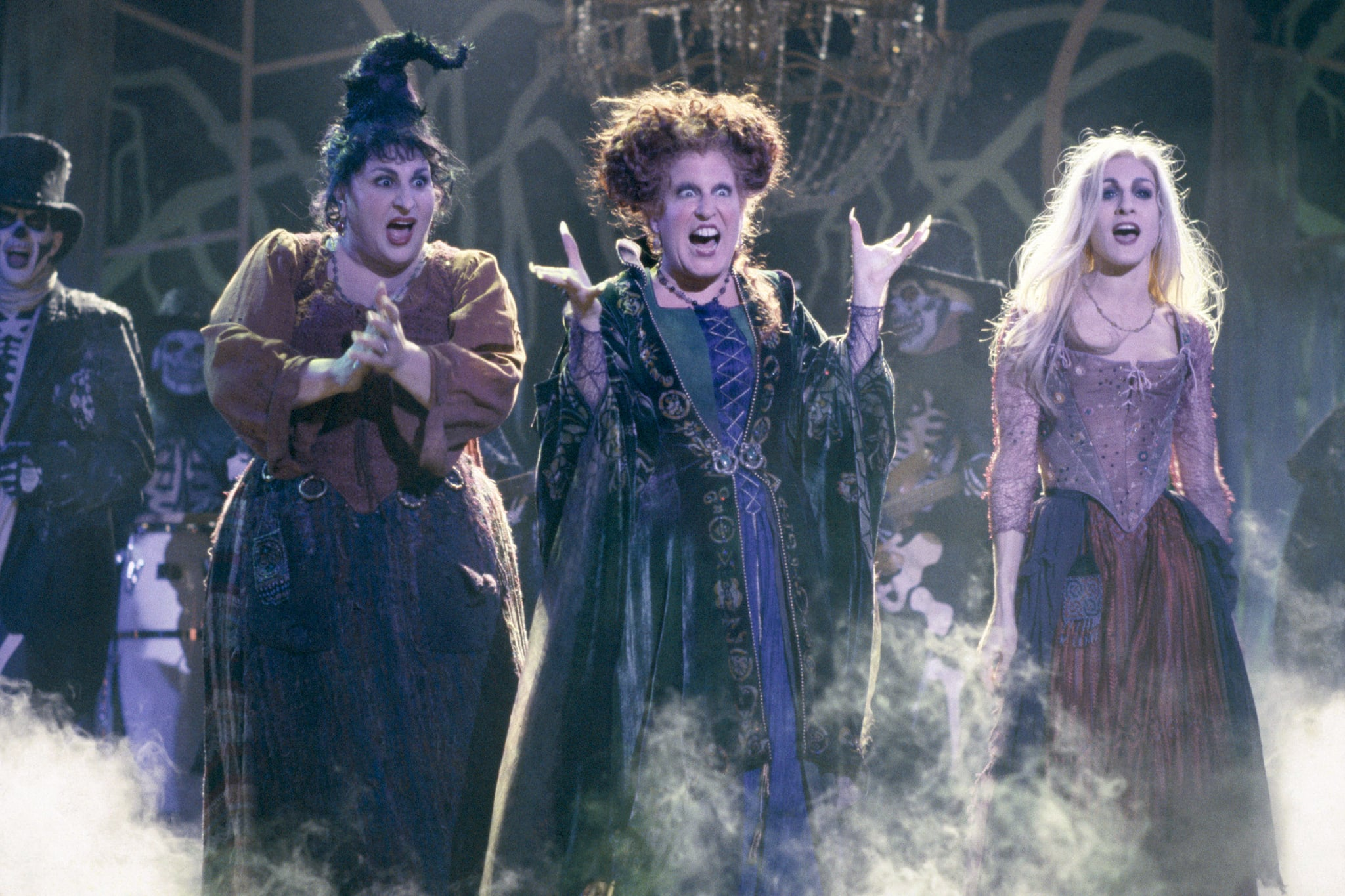 HOCUS POCUS, Kathy Najimy, Bette Midler, Sarah Jessica Parker, 1993, (c) Buena Vista/courtesy Everett Collection
