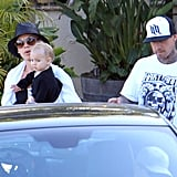Pink had a holiday lunch with husband Carey Hart and daughter Willow.