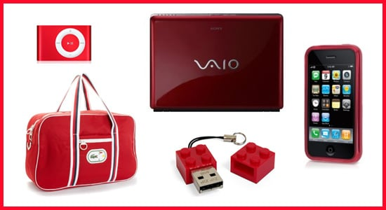 Technicolor Toys: Red Gadgets and Accessories