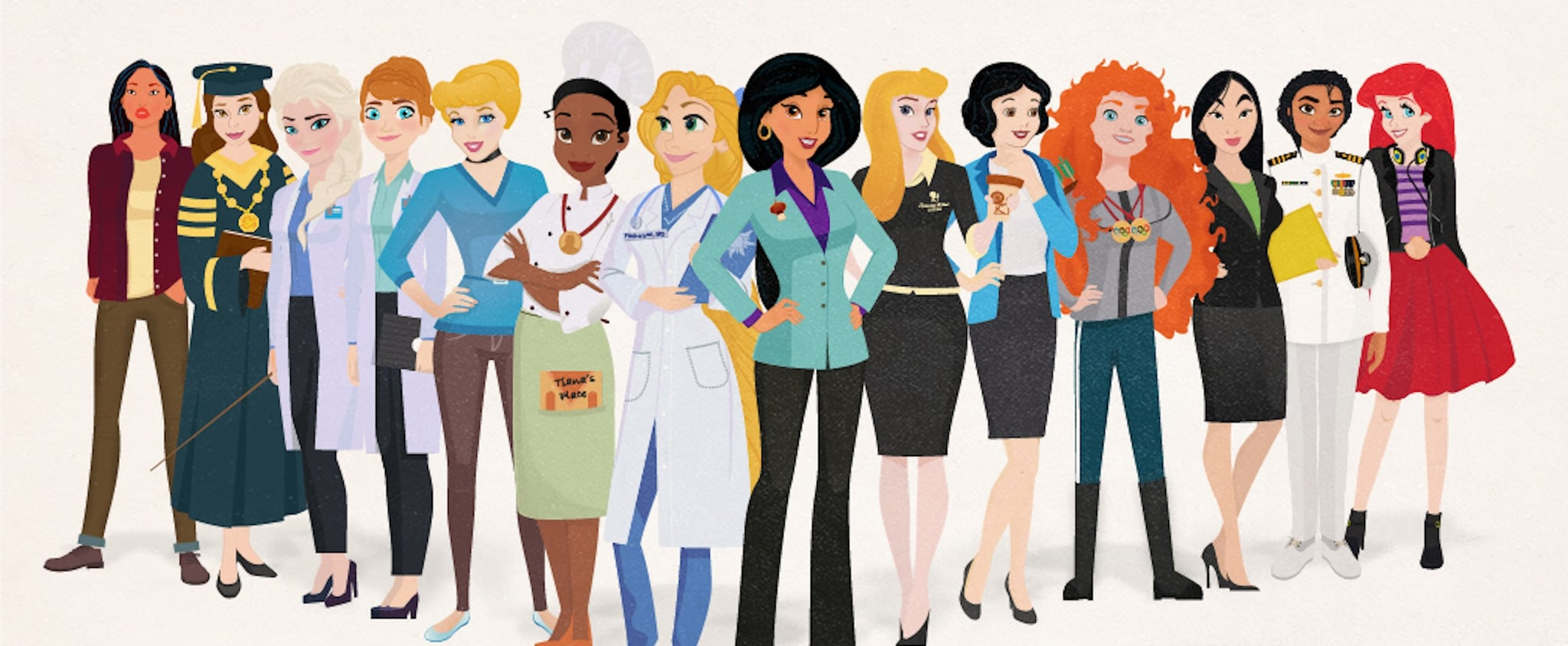 Disney Princesses as Career Women