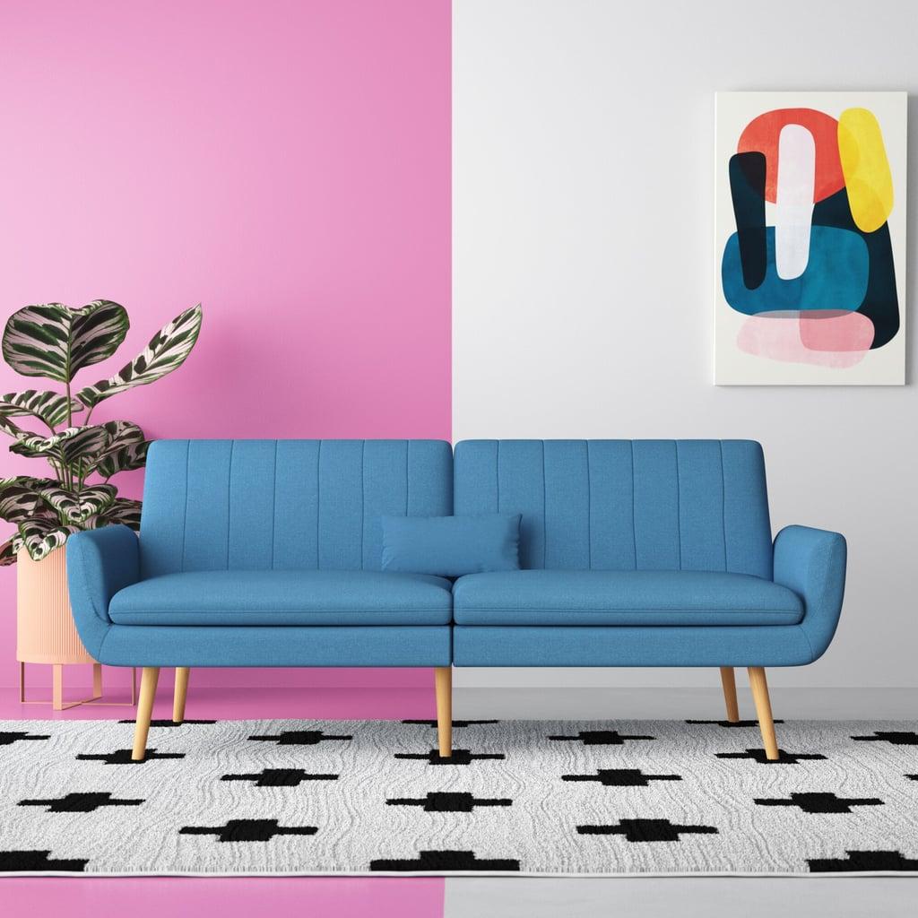 Fogle Linen Square Arm Sofa