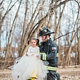 Father and Daughter Firefighter Photo Shoot