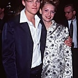 Leo and Claire Danes embraced on the red carpet at the Los Angeles premiere of Romeo + Juliet in October 1996.