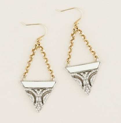 Lulu Frost for J.Crew Crystal and Resin Earrings in Ivory ($75)
