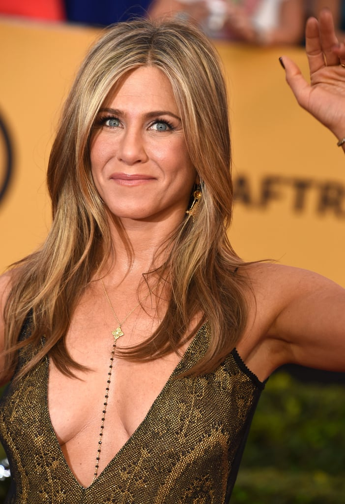 Jennifer Aniston With Sun-Kissed Highlights