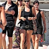 Kate Moss goes to lunch in St. Tropez.