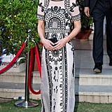 Wearing Alice Temperley in India in April 2016.