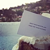 Nick Zano found a humorous note at a wedding party. Source: Instagram user nickzano